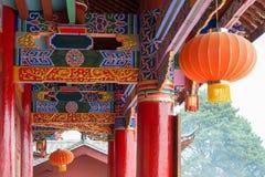 LIJIANG, CHINE - 7 SEPTEMBRE 2014 : Monastère de Fuguo un monastère célèbre Photo stock