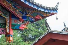 LIJIANG, CHINE - 7 SEPTEMBRE 2014 : Monastère de Fuguo un monastère célèbre Image stock