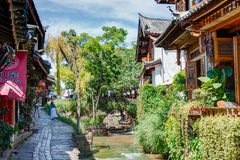 LIJIANG, CHINE - 5 SEPTEMBRE 2014 : Vieille ville de Lijiang (monde de l'UNESCO il Photographie stock