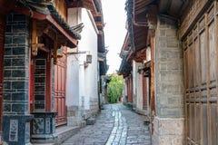 LIJIANG, CHINE - 8 SEPTEMBRE 2014 : Vieille ville de Lijiang (monde de l'UNESCO il Photographie stock libre de droits