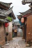 LIJIANG, CHINE - 6 SEPTEMBRE 2014 : Vieille ville de Shuhe (heritag du monde de l'UNESCO Photographie stock libre de droits