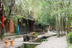 LIJIANG, CHINE - 6 SEPTEMBRE 2014 : Vieille ville de Shuhe (heritag du monde de l'UNESCO Image stock