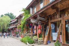 LIJIANG, CHINE - 6 SEPTEMBRE 2014 : Vieux town& x28 de Shuhe ; Heritag du monde de l'UNESCO Images stock