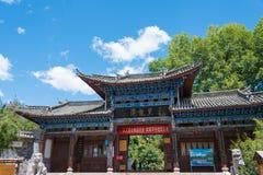 LIJIANG CHINY, SEP, - 4 2014: Czarny smoka basen przy Starym miasteczkiem Li Zdjęcia Stock