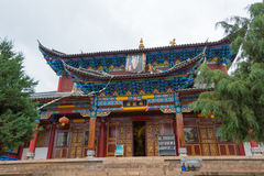 LIJIANG CHINY, SEP, - 7 2014: Fuguo monaster sławny monaster Obrazy Royalty Free