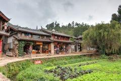 LIJIANG CHINY, SEP, - 6 2014: Shuhe stary town& x28; UNESCO światu heritag Obraz Stock
