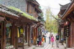 LIJIANG CHINY, SEP, - 6 2014: Shuhe stary town& x28; UNESCO światu heritag Zdjęcie Stock