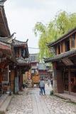 LIJIANG CHINY, SEP, - 6 2014: Shuhe stary town& x28; UNESCO światu heritag Zdjęcia Royalty Free
