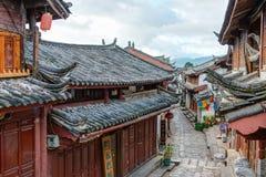 LIJIANG CHINY, SEP, - 8 2014: Stary miasteczko Lijiang& x28; UNESCO świat on Fotografia Royalty Free