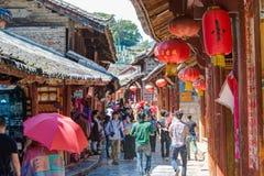 LIJIANG CHINY, SEP, - 5 2014: Stary miasteczko Lijiang (UNESCO świat on Zdjęcia Stock