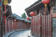 LIJIANG CHINY, SEP, - 8 2014: Stary miasteczko Lijiang (UNESCO świat on Zdjęcia Stock