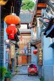 LIJIANG CHINY, SEP, - 8 2014: Stary miasteczko Lijiang (UNESCO świat on Fotografia Stock