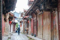 LIJIANG CHINY, SEP, - 8 2014: Stary miasteczko Lijiang (UNESCO świat on Obraz Royalty Free