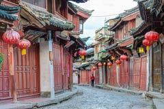 LIJIANG CHINY, SEP, - 8 2014: Stary miasteczko Lijiang (UNESCO świat on Zdjęcie Stock