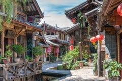 LIJIANG CHINY, SEP, - 5 2014: Stary miasteczko Lijiang (UNESCO świat on Obrazy Royalty Free