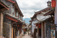 LIJIANG CHINY, SEP, - 5 2014: Stary miasteczko Lijiang (UNESCO świat on Obrazy Stock