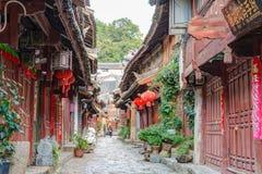 LIJIANG CHINY, SEP, - 8 2014: Stary miasteczko Lijiang (UNESCO świat on Obrazy Royalty Free