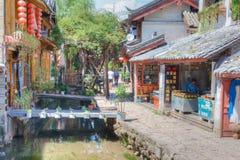LIJIANG CHINY, SEP, - 5 2014: Stary miasteczko Lijiang (UNESCO świat on Zdjęcia Royalty Free