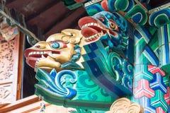 LIJIANG CHINY, SEP, - 6 2014: Statua przy Yufeng Lamasery sławny Zdjęcie Royalty Free
