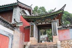 LIJIANG CHINY, SEP, - 6 2014: Yufeng Lamasery sławny monaster Fotografia Royalty Free