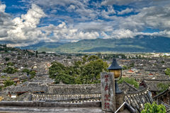 Lijiang City Roof Tops Royalty Free Stock Photos