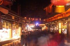 Lijiang Dayan old town at night. Stock Images