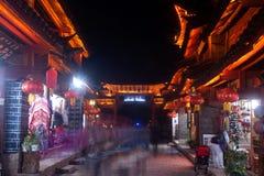 Lijiang Dayan old town at night. Stock Photos