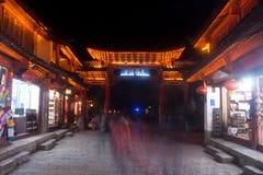 Lijiang Dayan old town at night. Stock Photography
