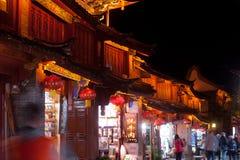 Lijiang Dayan old town at night. Stock Photo