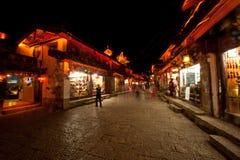 Lijiang Dayan old town at night. Royalty Free Stock Image