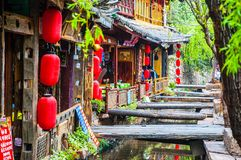 Lijiang Dayan old town scene Royalty Free Stock Photos