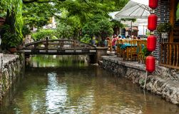 Lijiang Dayan old town scene Royalty Free Stock Photo
