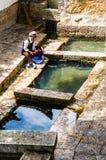 Lijiang Dayan old town scene-Three well Stock Photos