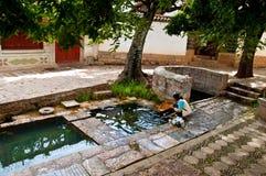 Lijiang Dayan old town scene-Three well Stock Photo