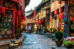 Lijiang Dayan old town streets Royalty Free Stock Photography