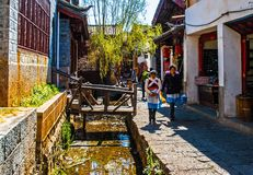 Lijiang Dayan old town streets Royalty Free Stock Photos