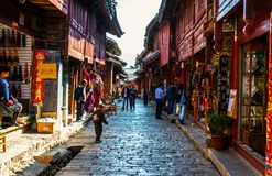 Lijiang Dayan old town streets Royalty Free Stock Images