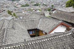Lijiang: de oude stad van dayan stock foto