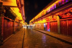 Lijiang Downtown China stock photo