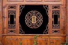 Lijiang, griglie residenziali della via del Yunnan Shuhe Immagine Stock