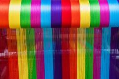 Lijiang, il Yunnan Shuhe tricotta il quadrato tessuto sciarpe Immagini Stock