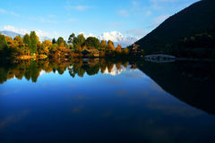 Lijiang landscape. It is beautiful in lijiang river stock photo