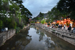 Lijiang by night Stock Photography