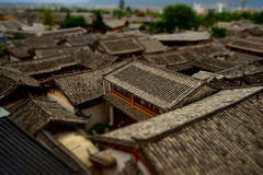 Lijiang old houses. Were built at around 1200 A.C royalty free stock images