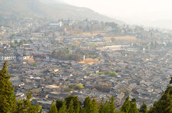 Lijiang old town, Dayan ancient city in sunrise light. Royalty Free Stock Photo