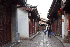 Lijiang old town, the UNESCO world heritage. Royalty Free Stock Photo