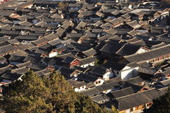 Lijiang old town roofs. Yunnan, China Stock Photography