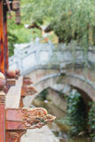 Lijiang Old Town, Yunnan - Traditional Half-timbered Architecture and lush garden scenery Royalty Free Stock Photo