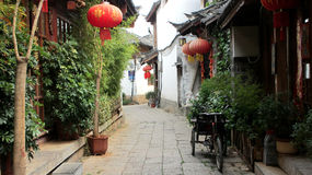Lijiang Oude Stad stock foto