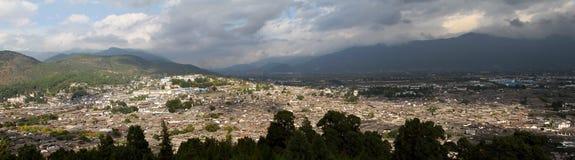 Lijiang panorama. Panorama of the old town Lijiang in yunnan province,china Royalty Free Stock Images